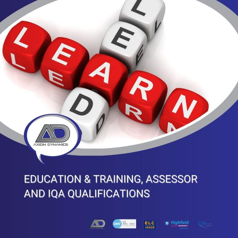 Ways to Become Qualified in Education & Training, Assessor and/ or IQA Qualifications.