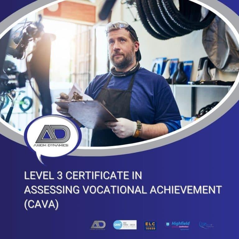 Level 3 Certificate in Assessing Vocational Achievement – Portfolio Checklist