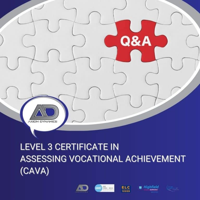 Level 3 Certificate in Assessing Vocational Achievement (CAVA) – Q&A Session with Completed Learner