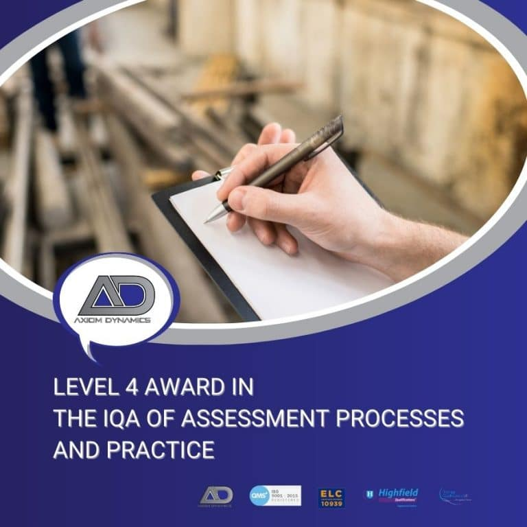 The IQA of Assessment Processes and Practice
