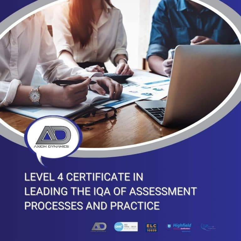 Leading the IQA of Assessment Processes and Practice