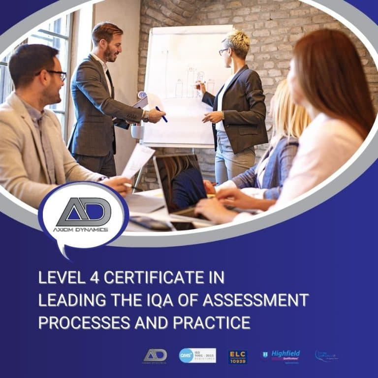 Level 4 Certificate in Leading the Internal Quality Assurance of Assessment Processes and Practice – Portfolio Checklist